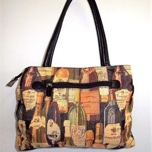 Large Tapestry Wine Tote Bag